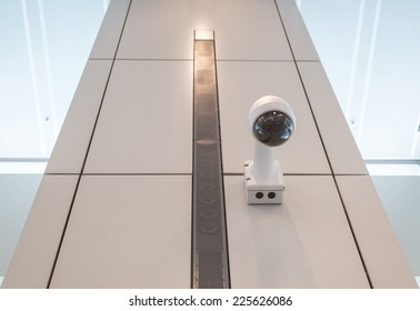 CCTV Security camera wall ceiling.