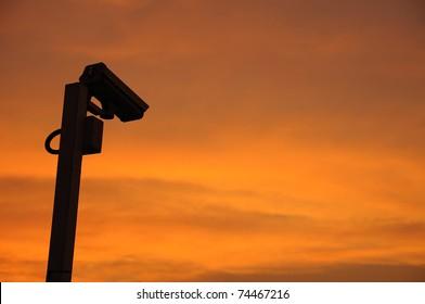 CCTV silhouettes.