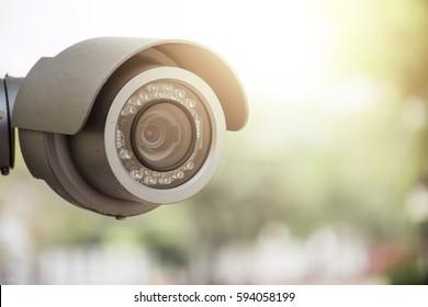 CCTV and sun light.