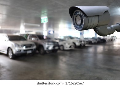 CCTV tool in Parking Equipment for security systems and have copy space for design.