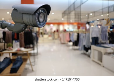 CCTV tool in Shopping mall Equipment for security systems and have copy space for design.