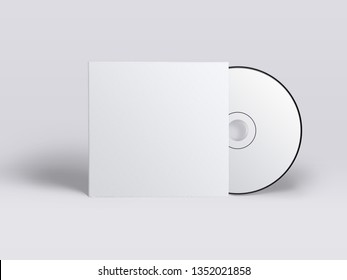 Cd With Cover Template mockup