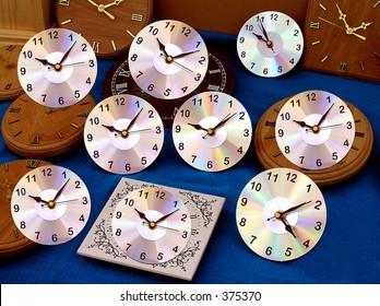 CD or DVD Clocks