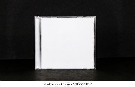 cd dvd cover album design template mockup  on black background for musician