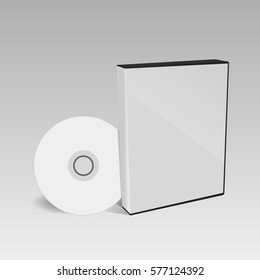 cd or dvd disc cover mockup