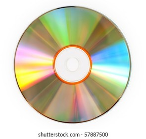 A CD isolated on white