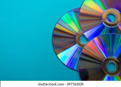 Cd on blue background