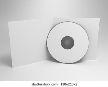 cd with opened cover - render