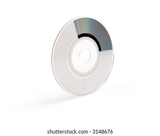 a cd with white background