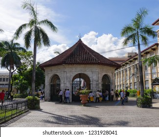 CEBU CITY, PHILIPPINES—MARCH 2018: Magellan's Cross is one of the most popular attraction in Cebu City.