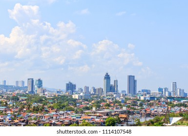 Cebu City, Philippines - June 13, 2018: Cebu City View