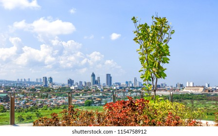 Cebu City, Philippines - June 13, 2018: View On Cebu City From SM Seaside City Cebu