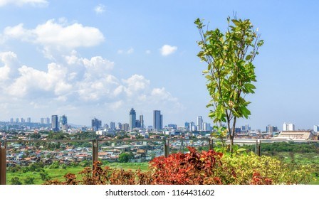 Cebu City, Philippines - June 13, 2018: View On Cebu City From SM Seaside City Cebu
