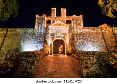 Cebu City, Philippines - June 15, 2018: Night View Of Fort San Pedro In Cebu City