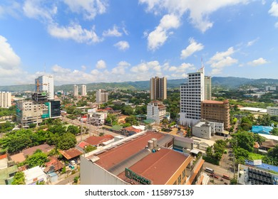 Cebu City, Philippines - June 15, 2018: View Of Buildings In Cebu City