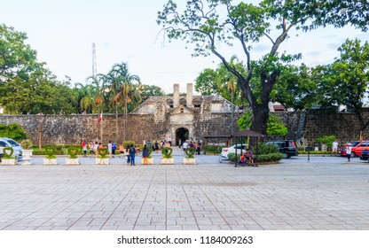 Cebu City, Philippines - June 15, 2018: Fort San Pedro In Cebu City