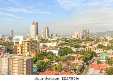 Cebu City, Philippines - June 19, 2018: Cebu City View