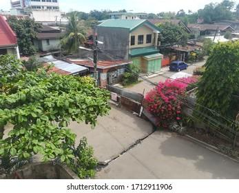CEBU CITY, CEBU PHILIPPINES - March 21, 2020: Barricade or street blockade during enhanced community quarantine