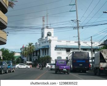 CEBU CITY, PHILIPPINES--MARCH 2018:Sidestreet scene in Cebu City.