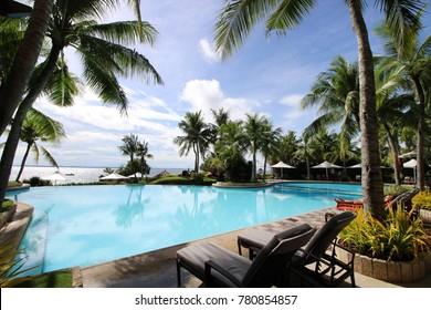 Cebu City shangri-la hotel Philippines shangrila pool ocean