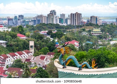 cebu city view from Taoist temple in cebu city, Philippines