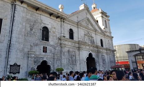 Cebu City,Cebu/ Philippines- December 3, 2017: After Holy Mass in Basilica of Santo Nino Church in Cebu