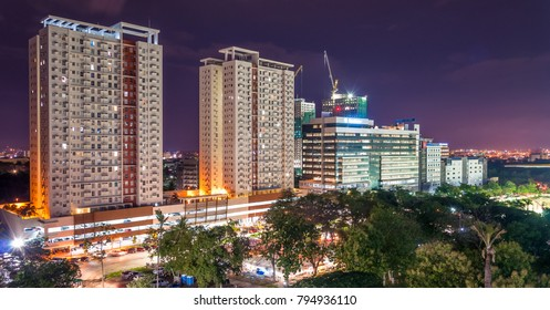 Cebu City/Philippines - August 10 2016: Avida Towers and IT Park in Cebu City