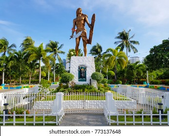 [Cebu Philippines| Aug 10 2016] Lapu-Lapu Monument Historical figures Cebu city Philippines