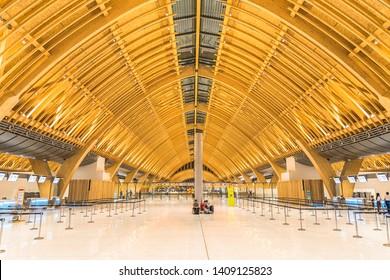 Cebu, Philippines- MAY 23 Mactan Cebu international airport taken May 23, 2019 in Cebu