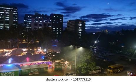 CEBU, PHILLIPINES - CIRCA January 2018 :Evening view of IT Park
