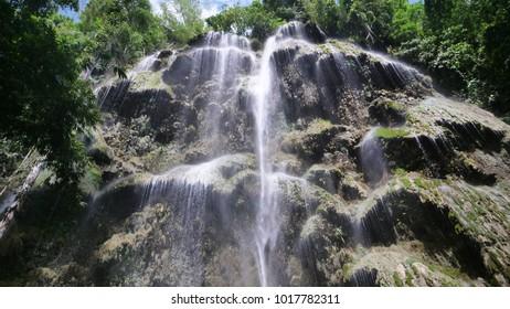 CEBU, PHILLIPINES - CIRCA January 2018 :Beautiful Tumalog waterfalls on a beautiful day