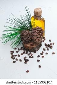 Cedar cones and cedar products, nuts and cedar oil