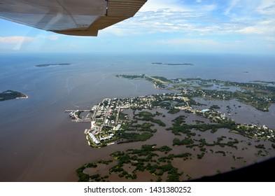 Cedar Key FL from the Air