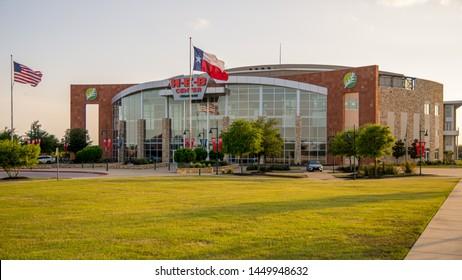Cedar Park, Texas / USA - April 12, 2019: The HEB Center in Cedar Park is a sports and entertainment venue where the Texas Stars play hockey