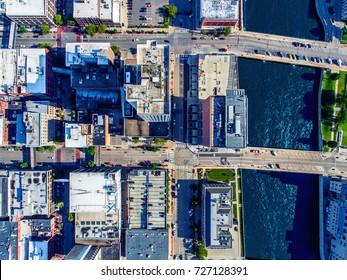 Cedar Rapids from above looking down