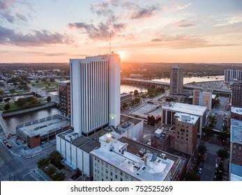 Cedar Rapids Downtown Sunset