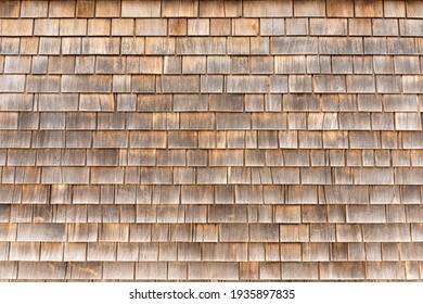 Cedar shingle wall background texture