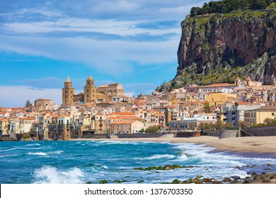 Cefalu is city in Italian Metropolitan City of Palermo located on Tyrrhenian coast of Sicily, Italy. Cefalu is popular travel destination in Italy because of long sandy beach and clear blue sea.