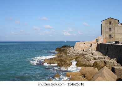 Cefalu, Sicily island in Italy. Mediterranean town. Province of Palermo.