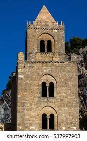 Cefalu's Cathedral, one of the most interesting buildings in Sicily, originated by the Norman King Roger II, consecrated in 1267. Reflects Norman, Latin, Greek, and Arab architectural influences.
