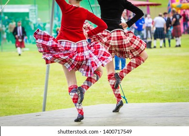 Ceilidh dance competition at Scottish Highland Games