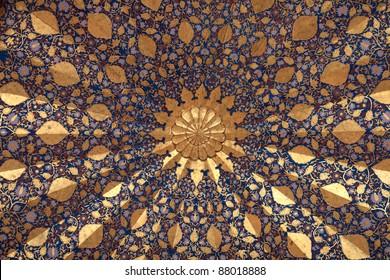 It is ceiling of Aksaray mausoleum, Samarkand, Uzbekistan