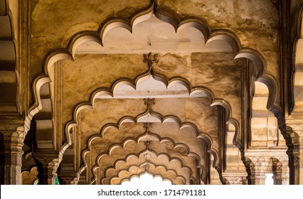 Ceiling architecture of the Nagina Masjid in Agra Fort. Agra Fort is a UNESCO World Heritage site in the city of Uttar Pradesh India. Famous tourist place in the world. Agra Fort Photography. - Image