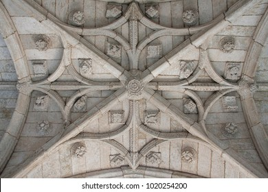 ceiling of the cathedral of ciudad rodrigo, in spain