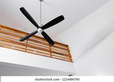 Ceiling fan in the room