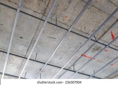 Ceiling frame construction
