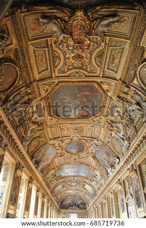 Image De Apollon ceiling gallerie d apollon de louvre taken stock photo (edit now