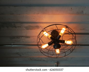 Ceiling lamp Design and decoration concept ,Loft style.