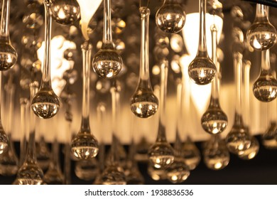 Ceiling Lamp, Glass like water drops.