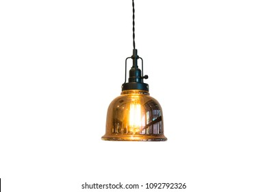 Ceiling lamp isolate on white background
